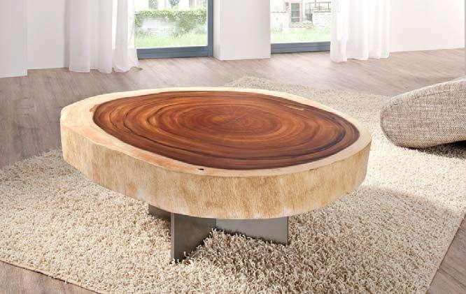 natur unikat couchtisch massiv baumstamm stamm teak edel design wohnzimmertisch ebay. Black Bedroom Furniture Sets. Home Design Ideas